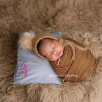 Bantal Baby CloudFoam Bantal Anti Peyang Ori 100% - Free Bonus Spesial - Abu-abu