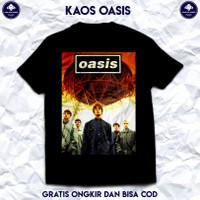 Kaos Band Oasis Original. Baju Kaos Pria Cotton Combed 30s Berkualitas