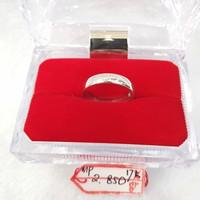 CC502M412M cincin emas kawin simple polos emas putih asli kadar 75%