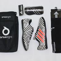 PAKET KUMPLIT sepatu futsal adidas nameziz terbaru predator murah pria - adidas 6, 39