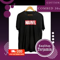 Baju Kaos Distro Marvel Pria Dewasa Kekinian Branded Bahan Premium