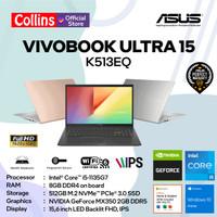 ASUS VIVOBOOK ULTRA 15 K513EQ I5-1135G7 8GB 512GB MX350 15.6 W10 OHS