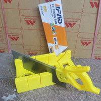 Gergaji Kayu Sudut Pigura - Back Saw Set Miter Box