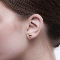 Lysa - Anting Studs Perak 925 Silver 18k Gold Plated Earring
