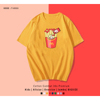 KAOS / T-SHIRT KPOP T0553 JIMIN FRENCH FRIES WITH TOMATO / ARMY INDO