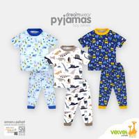 Velvet Junior Piyama Motif Dreamwear - Oblong Pendek Celana Panjang