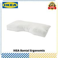 Bantal Ergonomis IKEA Skogslök Putih, Original IKEA