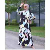 Baju Dress Wanita Muslim Model Terbaru Gamis Lengan Panjang LD 100