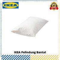 Pelindung Bantal Tidur IKEA Luddros Putih, Original IKEA
