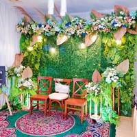 Dekorasi backdrop khitanan/pernikahan wallgrass 3.3meter