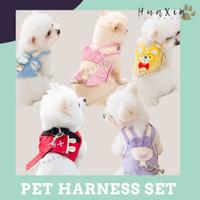 Baju Kucing Anjing & Tali Tuntun / Pet Harness Set with Leash