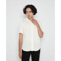 Kemeja Pria Erigo Short Shirt Arcelio Off Rayon White