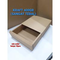 Kotak Kraft Sliding / Brownies / Bika / Kue / Cake / Lapis Legit