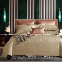 sprei bed cover orisa bahan jacguard sutra organik premium - 180