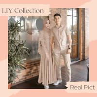 Couple Dress Maxi Viola Baju Kemeja Muslim Couple Terbaru