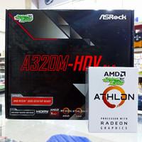 AMD Athlon 3000G With Radeon Vega 3 - Bundling Asrock A320M HDV