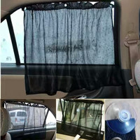 Tirai mobil anti panas universal kaca samping/sepasang gorden mobil