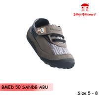 Baby Millioner BMED 50-SANDB ABU / sepatu anak kecil / sepatu bayi /
