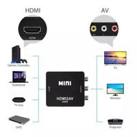 Minibox HDMI To AV RCA CVBS Adapter / Mini HDMI2AV Converter Box