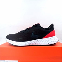 Sepatu Running/Lari Nike Revolution 5 Black Red White BQ3204-003 Ori