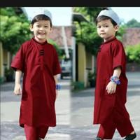 baju koko anak laki laki 1-5tahun baju muslim anak baju turki gamis 10