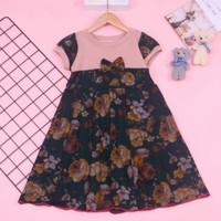 Baju Anak Perempuan Dress Batik 5-6 Tahun Dres Pesta Murah Bahan Adem