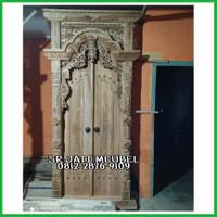 pintu rumah ukir kayu jati / pintu gebyok ukir kayu jati