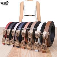 Ikat Ban Pinggang Wanita Cantol Fashion Kulit PU Women Belt 016 1.5cm