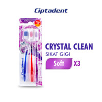 Ciptadent Sikat Gigi Crystal Clean Soft x 3 pcs