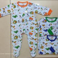 Baju jumper bayi panjang tutup kaki/Over all tanpa topi/SNI/