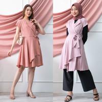 CHAMELE - Dress Wanita Big Bow Bahan Moscrepe 505