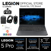 "Lenovo Legion 5 Pro Ryzen 7 5800H 32GB 1TBssd RTX3070 8GB W10 16"" BGID"