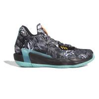 Sepatu Basket Pria adidas Dame 7 Floral Shoes Black FX7446