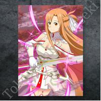 Poster Figure Asuna Yuuki SAO Gambar War Sword Art Online Paper Canvas