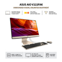 PC Asus AIO V222FAK-BA541T I5-10210U 4GB 1TB FHD WIN10 BLACK