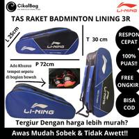 Tas Raket Badminton Merk Yonex 3 Resleting Dolby