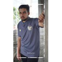Baju Polo Mills Timnas Indonesia Garuda Charchoal