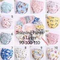 Celana dalam latihan pipis bayi/ training pants potty 6 layers/ tatur