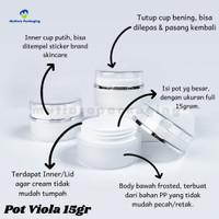 Pot Viola 15gr / Potcream 15gr - Pot kosmetik 15gr - Jar 15gr Murah