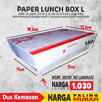 Paper Lunch Box L (ATAS 19.3X13.3) Foodgrade TANPA LAMINATING 1 warna