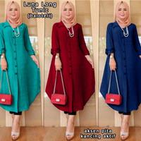 Luna Long Tunic - Pakaian Gamis Wanita Muslim - Baju Wanita - XXL