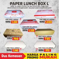 PAPER LUNCH BOX L