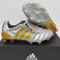 Sepatu Bola Adidas Predator Mania Remake Silver Gold Fg