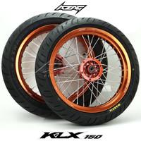 ban set motor klx dtracker150 series ring 17 supermoto scarlet maxxis