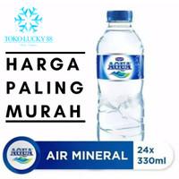 Air Mineral Minum Aqua Botol 330 ml isi 24 pcs 1 dus