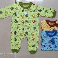 Baju bayi jumper panjang buka kaki/Over all bayi warna/SNI/katun/
