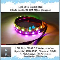 LED Strip PC Addressable RGB 3 pin ARGB 5V Gaming ASUS GIGABYTE MSI 60 - 2S 20CM ARGB M