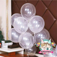 Windblown Balloon Latex Transparant/Balon Karet Lateks Polos Bening