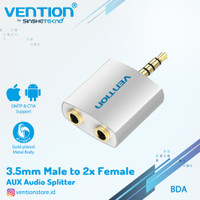 Vention Splitter Aux Audio Male To 2 Female Adapter