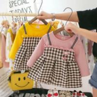 Baju Anak Perempuan Dres Korea Lucu Dress Baby Style Import Murah Adem